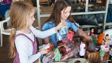 Young shoppers enjoying the stalls at the Fleece Fair. Picture: MARK ATHERTON