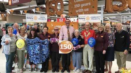 Portishead Rotary Club and Sainsbury's have launched a 150-day volunteering partnership.