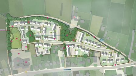 A plan of the proposed development.