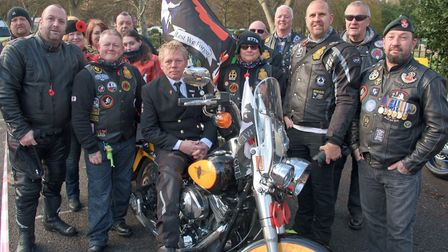 Royal British Legion Riders who lead the Parade.
