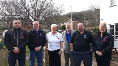 The Weston branch of the Royal British Legion's new committee.