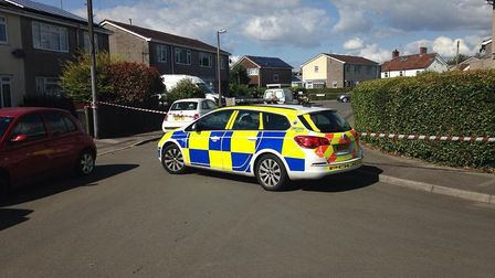 A mans body has been found in a vehicle in Claverham today (Friday).Picture: Tom Wright