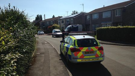 A man's body has been found in a vehicle in Claverham today (Friday).