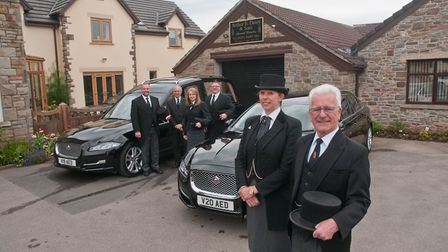 Arthur Davey & son funeral directors, 82 Silver Street, Nailsea, have won an award. Picture: MARK