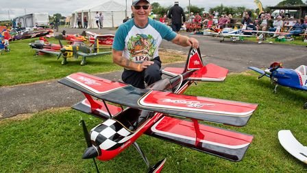 Nigel Morris with one of his models at Woodspring Model Air Show. Picture: MARK ATHERTON
