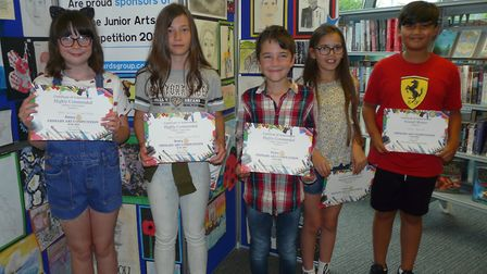 Winners of the Rotary Primary Art Competition.