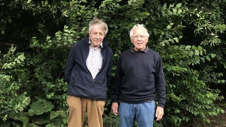 Clive Darke (left) and Steve Gambling (right) in Ashcombe Park