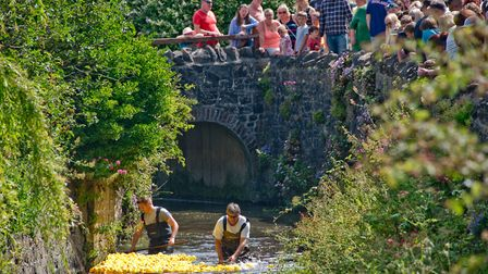 Uphill Duck race for Children's Hospice South West. Picture: MARK ATHERTON