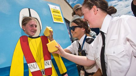Weston Police Cadets helping out and having some fun at Weston RNLI open day. Picture: MARK ATHER