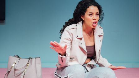 Nicôle Lecky performing in Superhoe. Picture: Helen Marray/Royal Court Theatre.