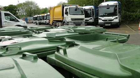 Green waste and recycling collections have been missed. Picture: Tony Gussin