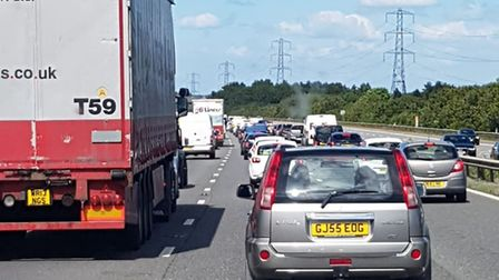 There are long delays on the M5 this afternoon (Friday).