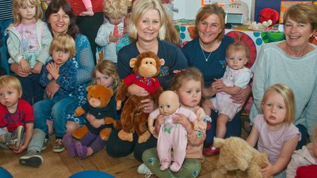 Teddy bear's picnic run by Boogie Beat Music and Movement HQ at St Andrew's Church Hall. Picture:
