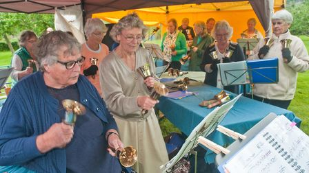 Father's Day cream tea event raising money for Weston Hospicecare. Music from the Cheddar Valley U3A