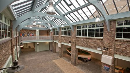 The atrium roof was replaced in 2017. Picture: Mark Atherton