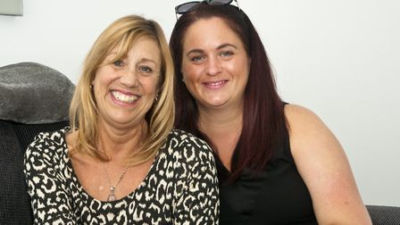 Sally Watters (right) is trying to raise money for her friend Jacqueline Peptitt who is terminally i