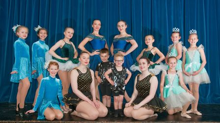 Members of Carlea theatre arts rehearsing for dance show at Churchill School theatre. Picture: MA