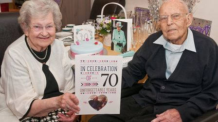 Honor and Don Fowler celebrating their 70th wedding anniversary. Picture: MARK ATHERTON