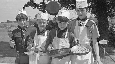 RAF Locking Scout Group summer fete at the Camp. Chefs Simon Hockey, Colin Oliver, Graham Read and M