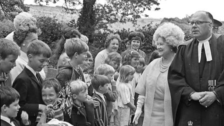 St Katherine's Church in Felton celebrating it's centenary was favoured with a Royal visit by Queen