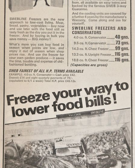 Ads 4th July 1969 Edition. Picture: WESTON MERCURY