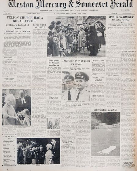 Front Page 4th July 1969 Edition. Picture: WESTON MERCURY