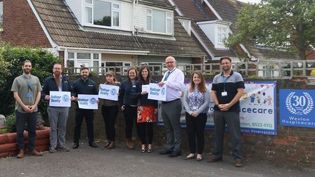 Balfour Beatty representatives pictured during a recent visit to meet the team at Weston Hospicecare