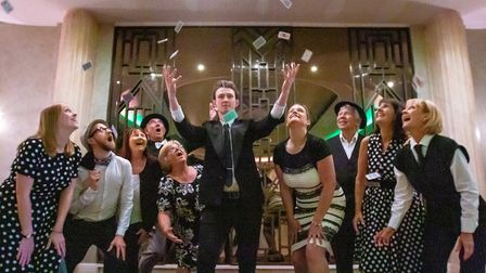 The cast of Guys And Dolls. Picture: Ben Hurst