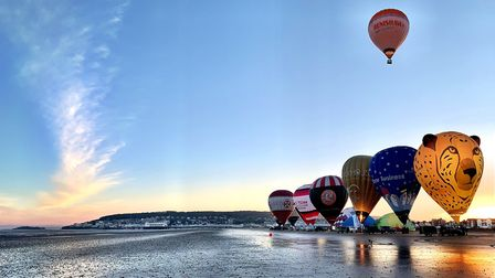 Balloons On The Beach. Picture: Exclusive Ballooning
