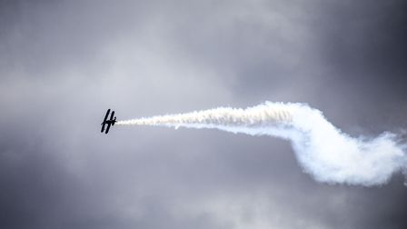 The Corinne Dennis Twirlybatics at the Weston Air Festival and Armed Forces Weekend. Picture: Weston