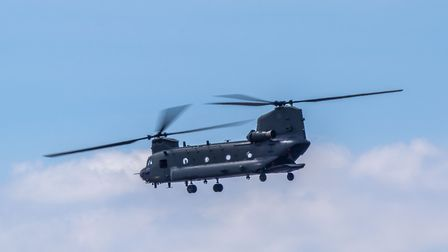 The Chinook at the Weston Air Festival and Armed Forces Weekend. Picture: Weston Air Festival/Paul B