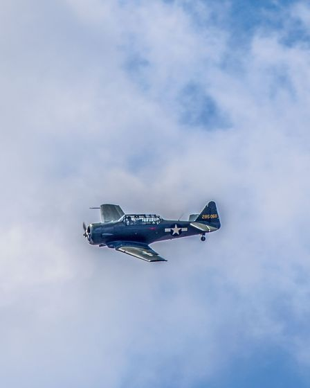 The AT-6D Texan at the Weston Air Festival and Armed Forces Weekend. Picture: Weston Air Festival/Pa