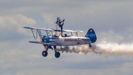 The Aerosuperbatic Wingwalkers at the Weston Air Festival and Armed Forces Weekend. Picture: Weston