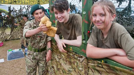 Weston Air Festival and Armed Forces Weekend. Weston Army Cadets. Picture: MARK ATHERTON