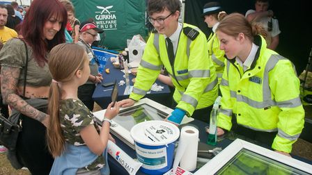Weston Air Festival and Armed Forces Weekend. Weston Police Cadets activities. Picture: MARK ATHE