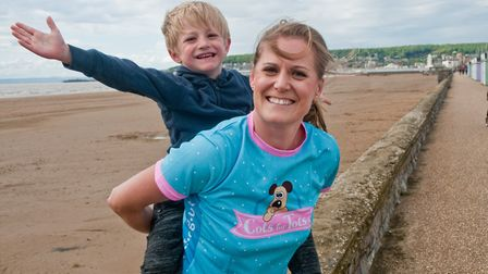 Naomi Allen and her son. She is running 5km every day for five weeks to raise money for Cots for Tot