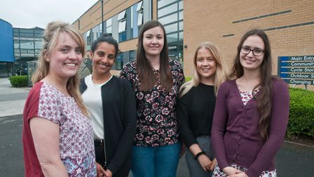 Young Wellspring wellbeing practitioners Beth Moran, Remick Kang, Hattie Saville, Roisin Farmer and