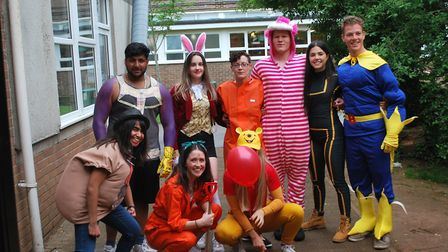 Year 13 pupils from Backwell School celebrated their final day by dressing up as their favourite fic