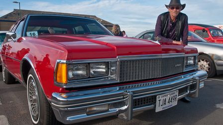 Paul Chamberlain with his 1977 Chevrolet Caprice which has only 16000 miles on the clock. Picture