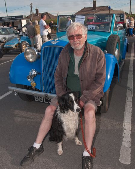 Nick Jones and Laddie with his 1938 Austin Redfern, the only one of its kind left on the road. Pictu