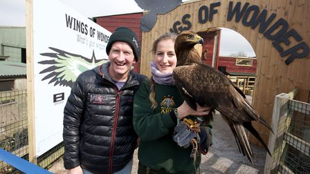 Eddie The Eagle Edwards opened the wings of wonder enclosure in April this year. Picture: Phil Light