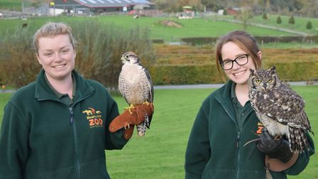 The zoo team promote its work on conservation, education and research. Picture: Noahs Ark Zoo Farm