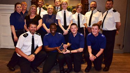Policing team of the year winners the Weston town centre police team. Picture: Dan Regan