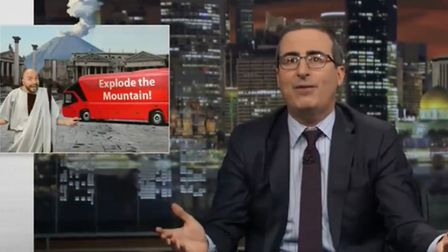 John Oliver likens Brexit to Pompeii. Photograph: HBO.