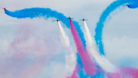 Red Arrows have been a popular attraction at the air festival for a number of years. Picture: Mark A