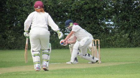 Guy Fisher and Bernie Forge put on the highest partnership of the game with 77.