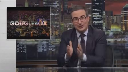 John Oliver talks about Brexit on HBO. Photograph: HBO/YouTube.