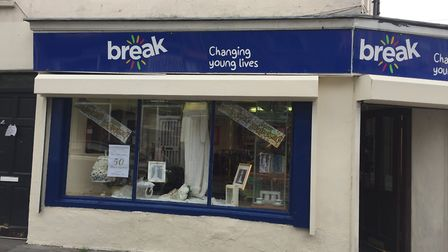 Break Charity Shop after it was repainted last year.