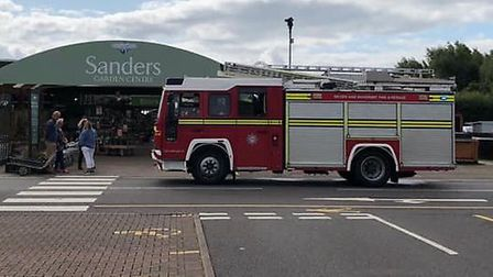 Crews were called to an electrical fire at Sanders Garden Centre in Brent Knoll Picture: Devon and