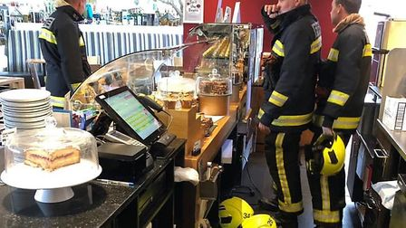An electrical fire broke out at Sanders Garden Centre, in Brent Knoll Picture: Devon and Somerset